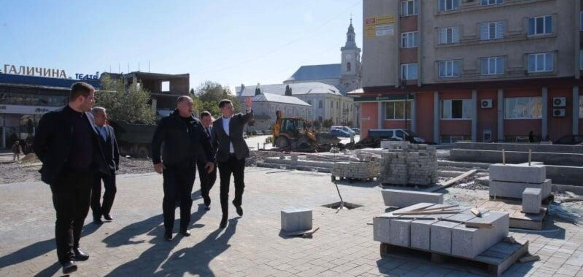 У Золочеві завершать реконструкцію центральної частини міста