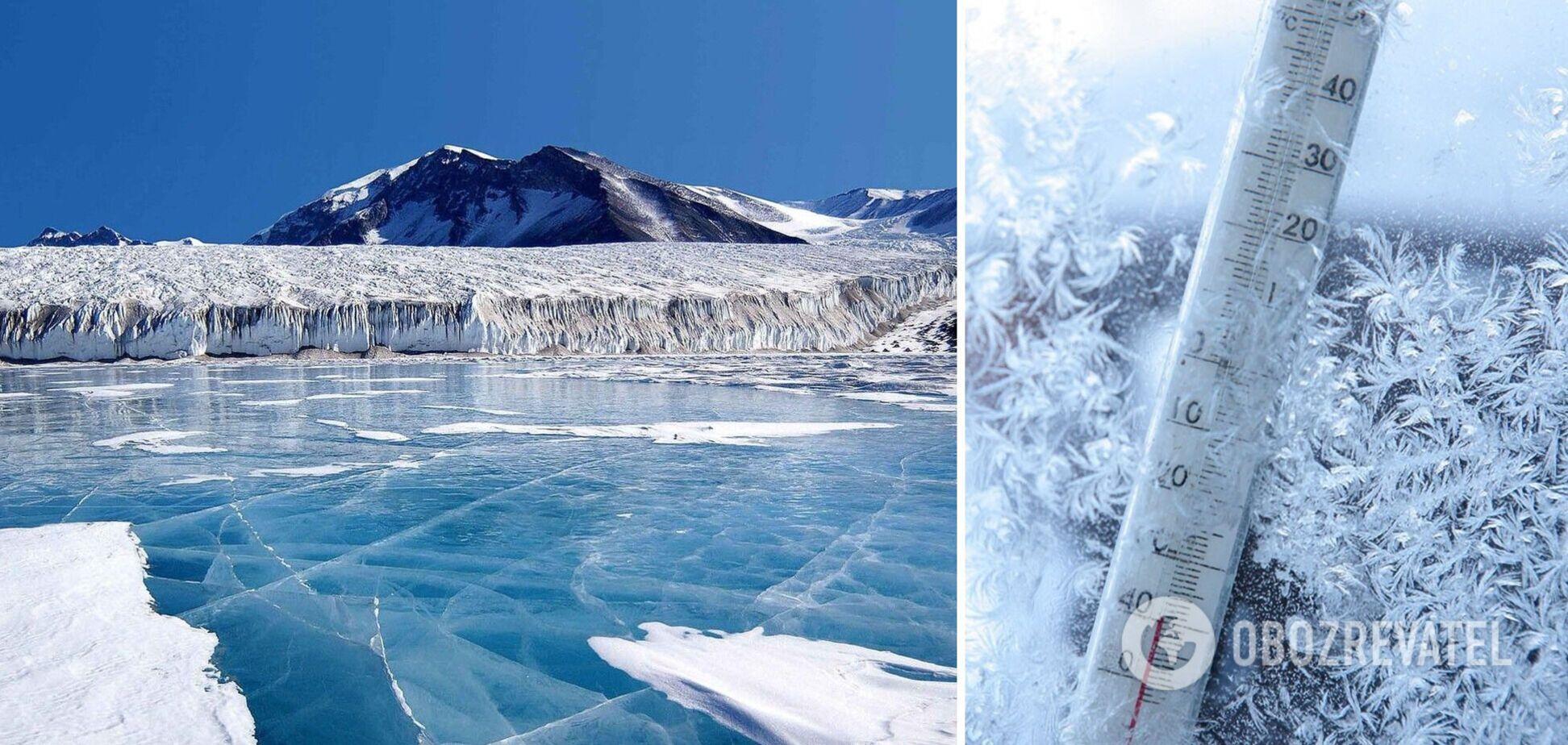 В Антарктиді зафіксували аномально низьку температуру за 45 років спостережень