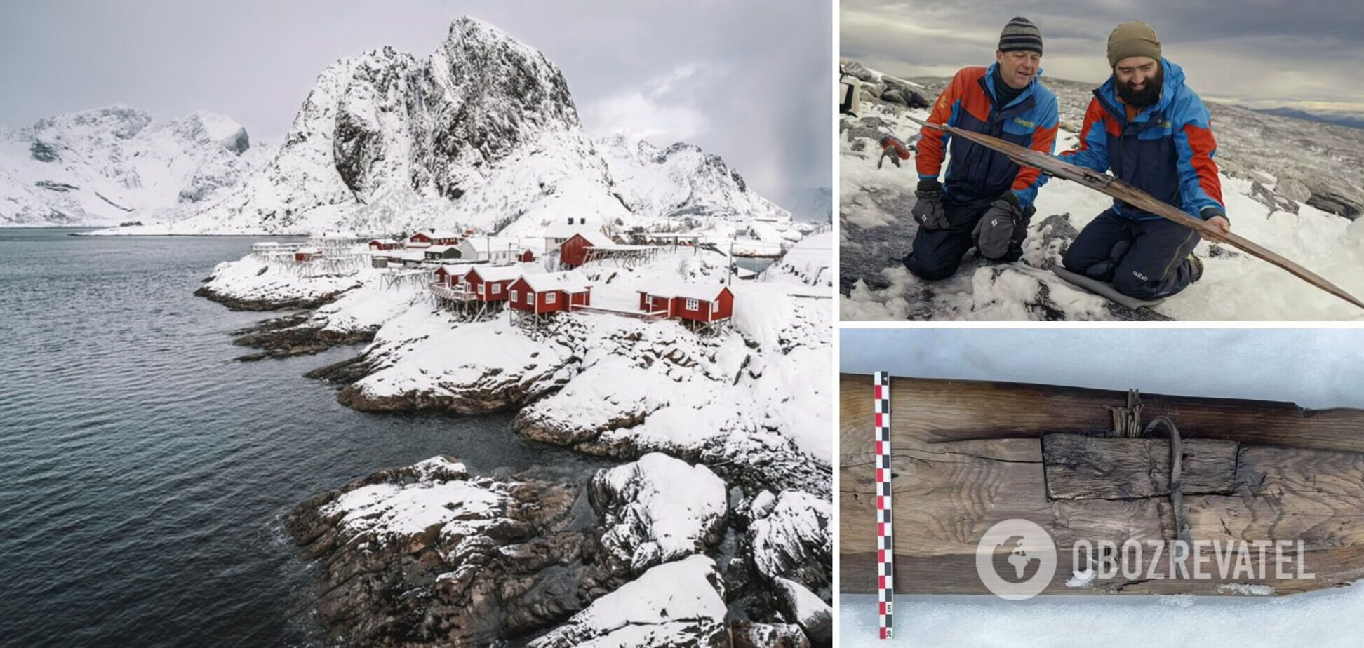 У Норвегії археологи знайшли у кризі лижі, яким більше ніж 1300 років. Фото