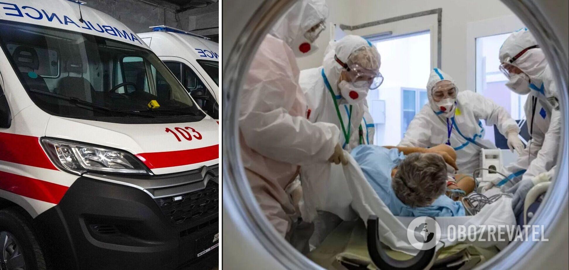 В Александровской больнице Киева 'кавалькада' скорых с COVID-больными: врач озвучил детали