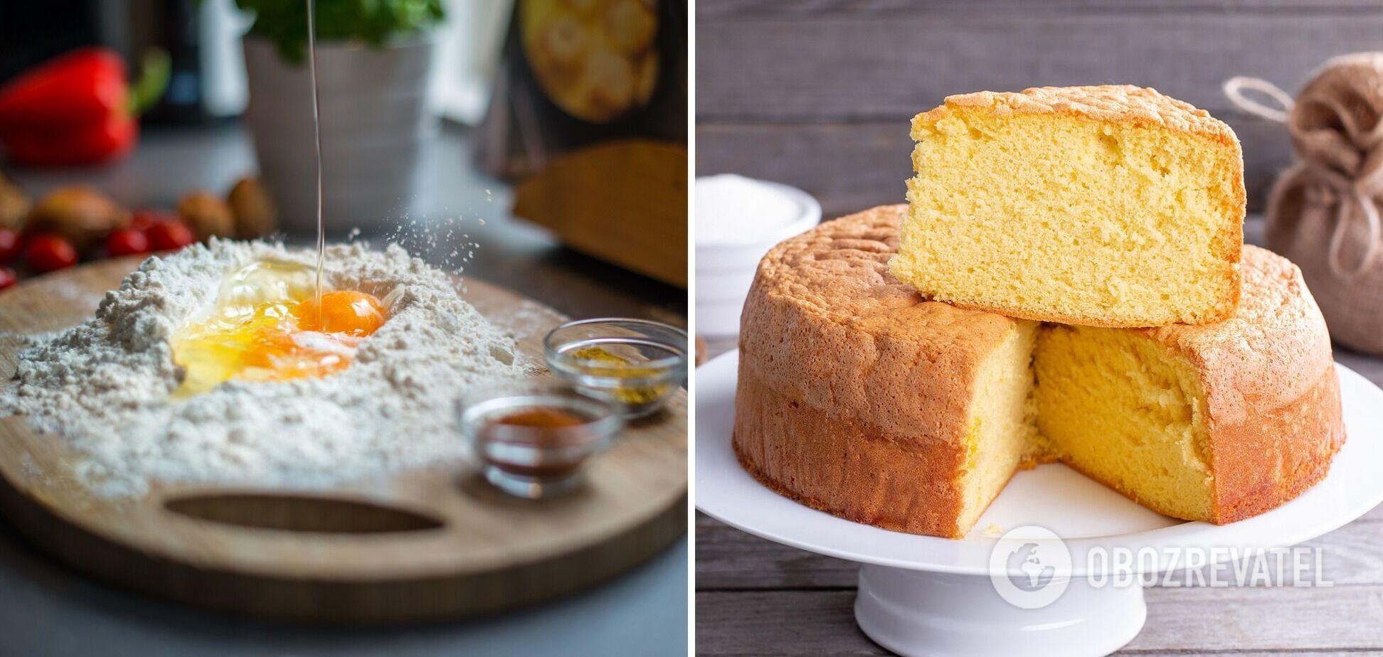 Як приготувати пишне тісто для бісквіта