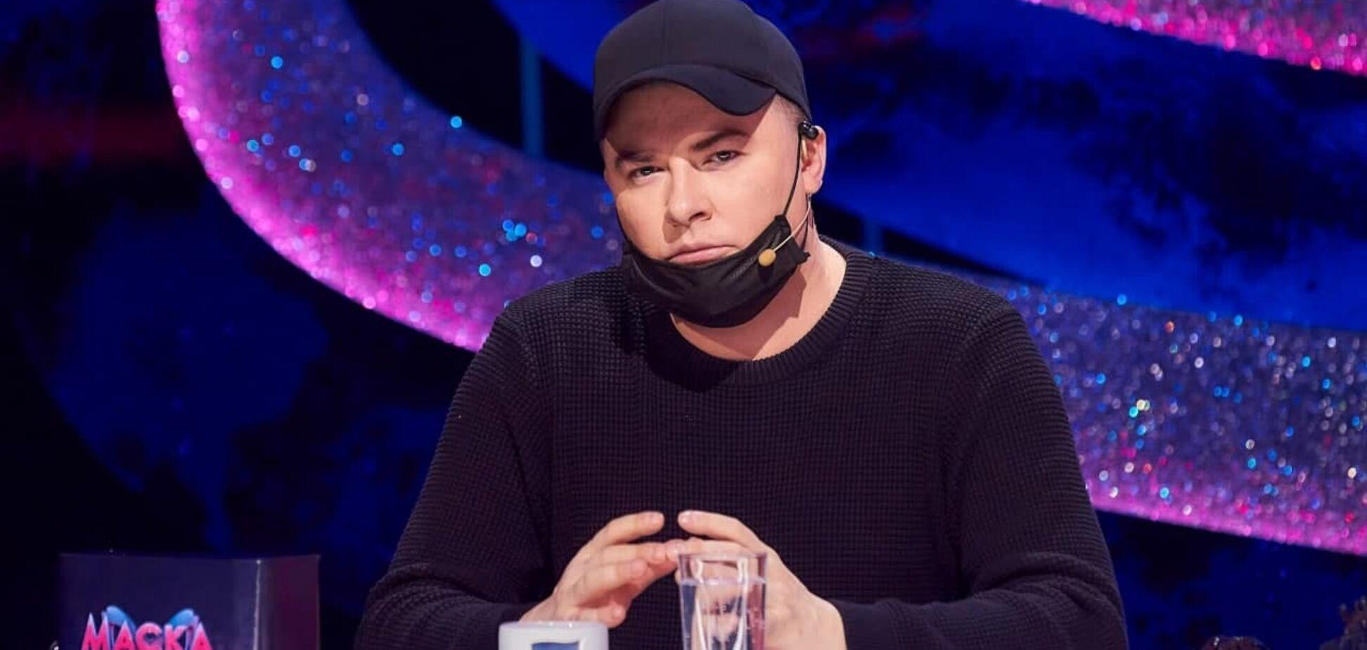 Андрій Данилко в студії шоу 'Маска'