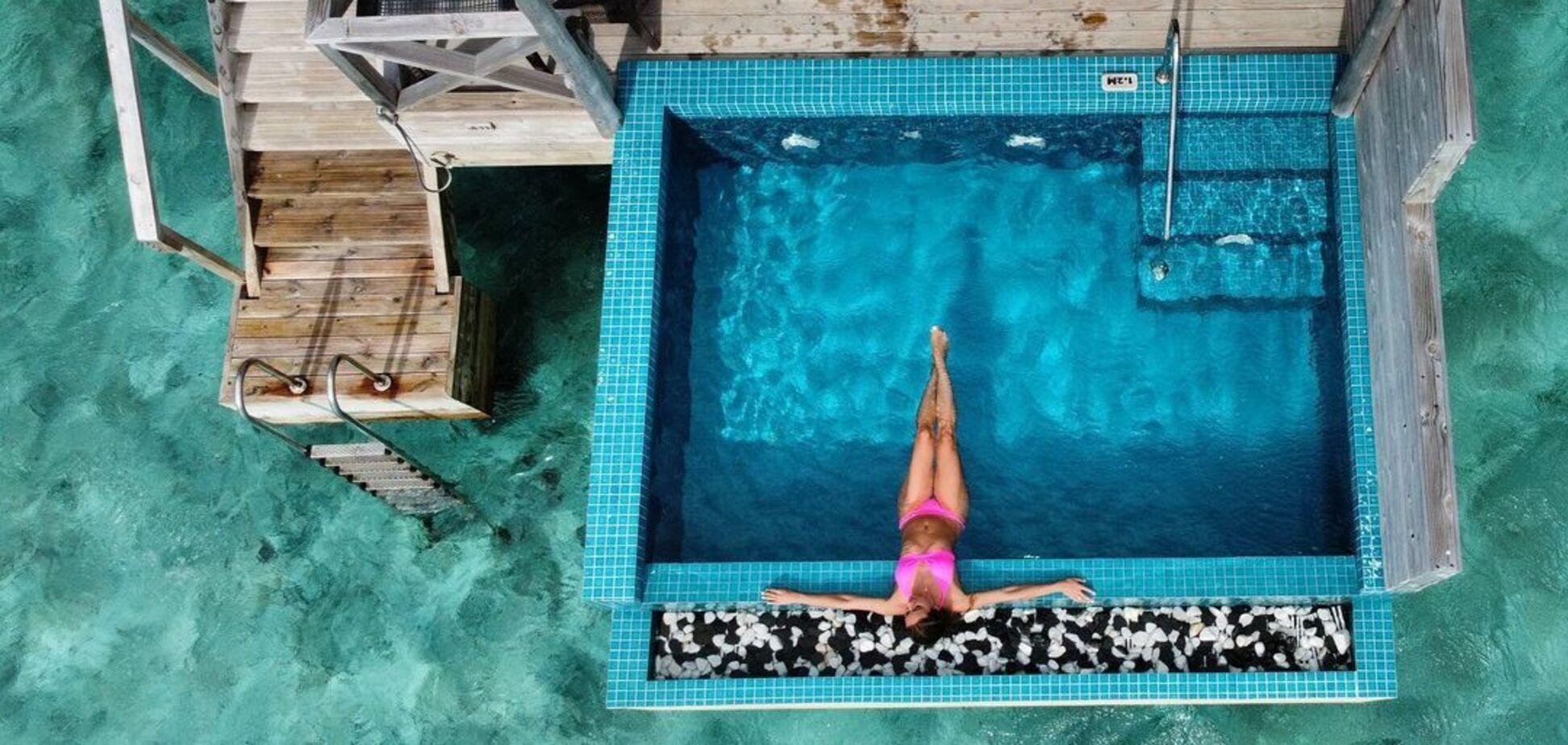 Завтраком в бассейне украинская чемпионка Терлюга попрощалась с Мальдивами