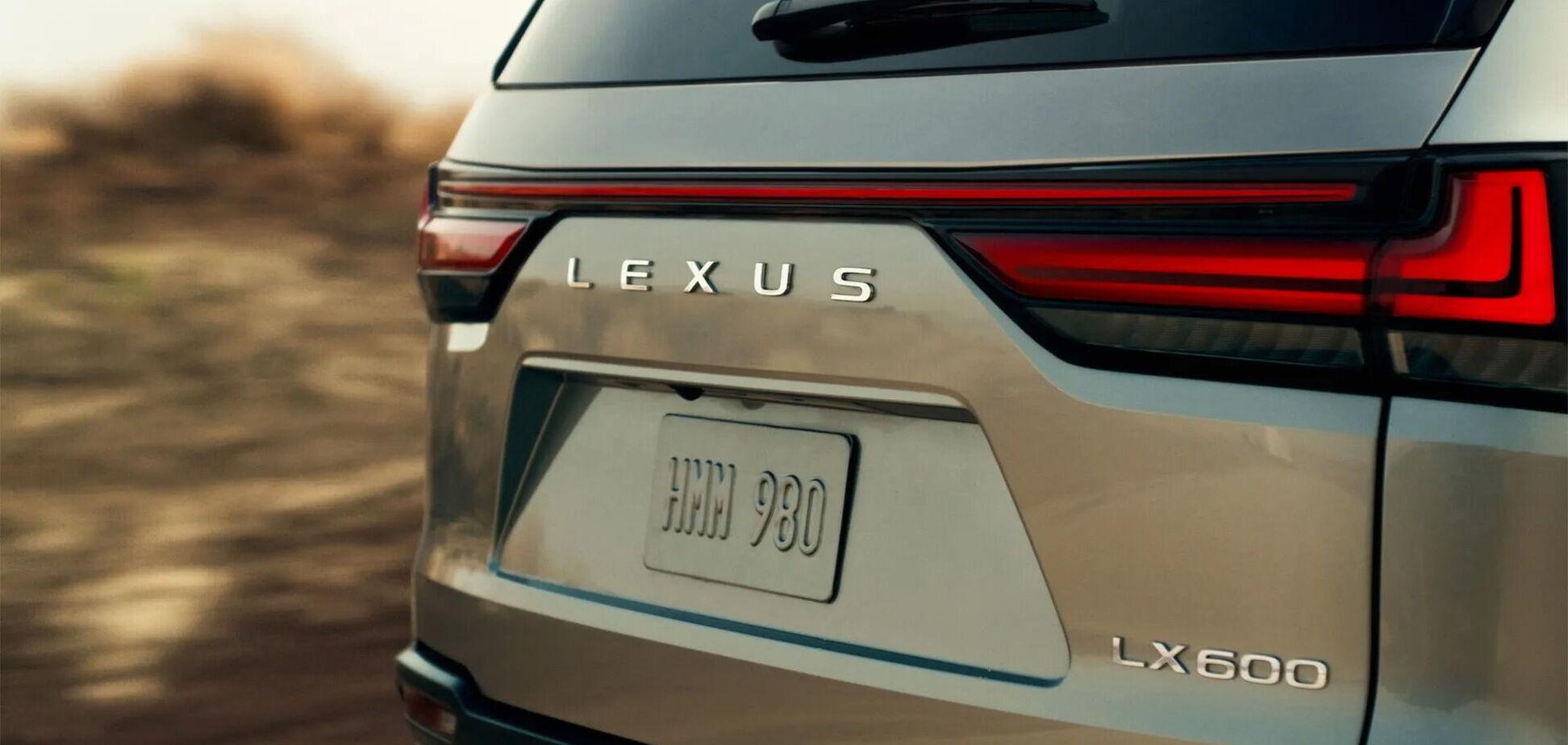 Lexus показав тизер флагманського позашляховика LX 600
