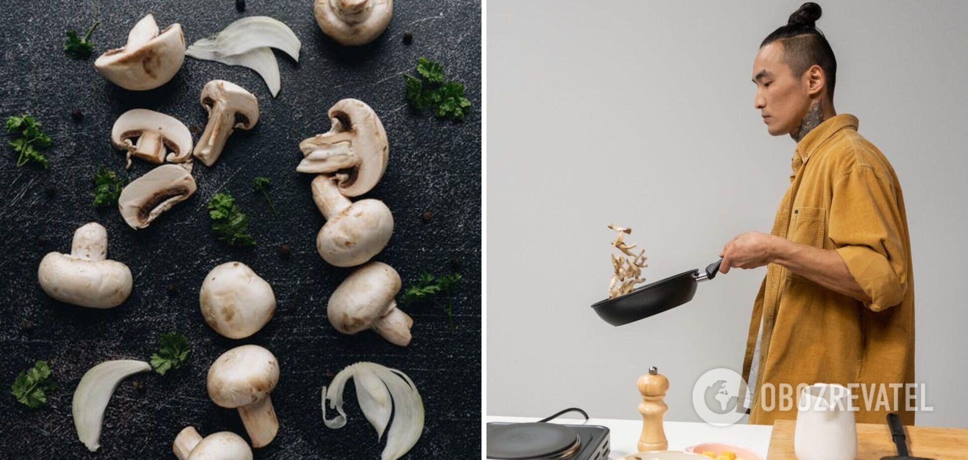 Когда в грибы добавлять лук при жарке – идеи приготовления