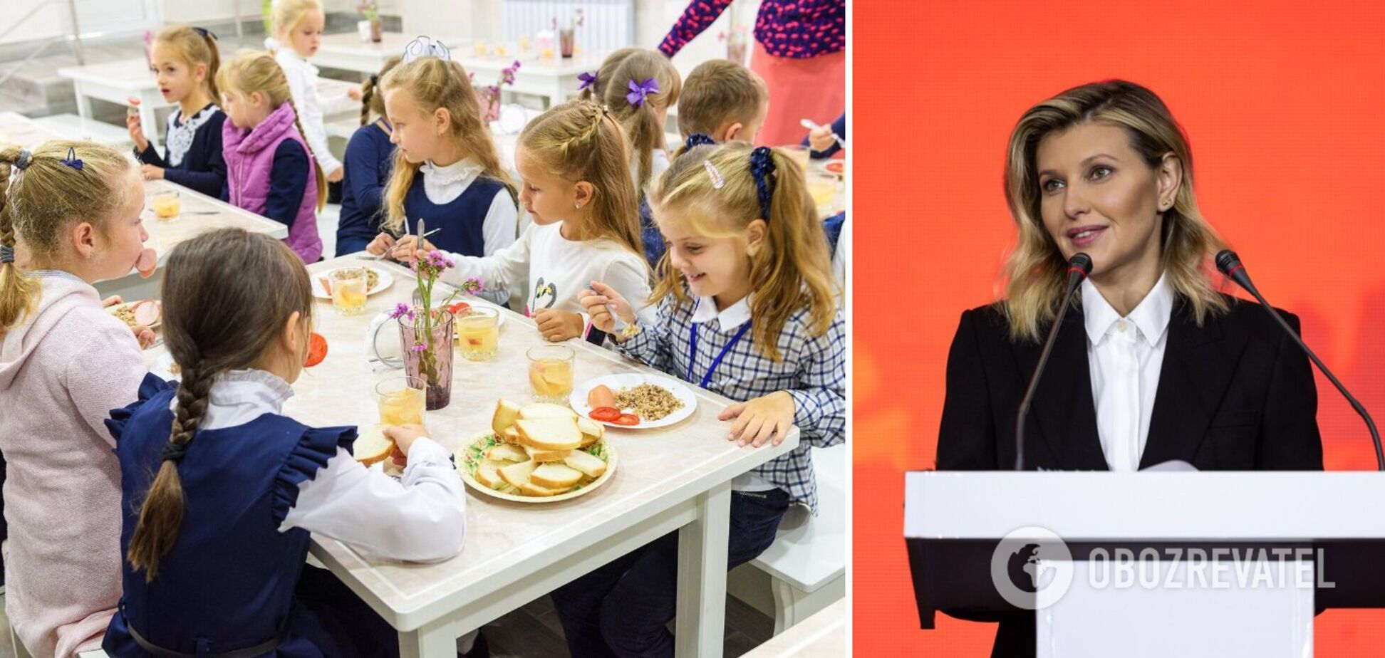 Елена Зеленская заверила, что реформа питания коснется всех школ