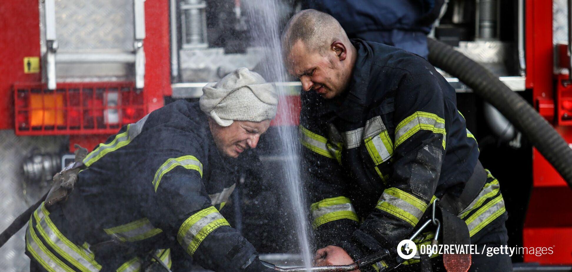 Спасатели оперативно потушили возгорание