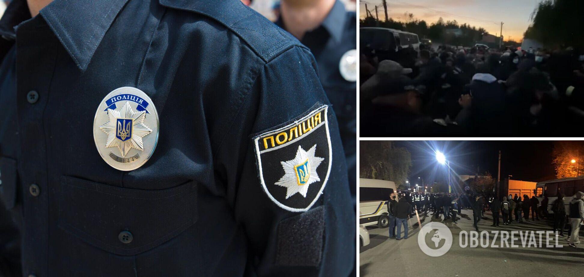 Возле дома Порошенко в Козине произошли столкновения титушек и полиции. Фото и видео