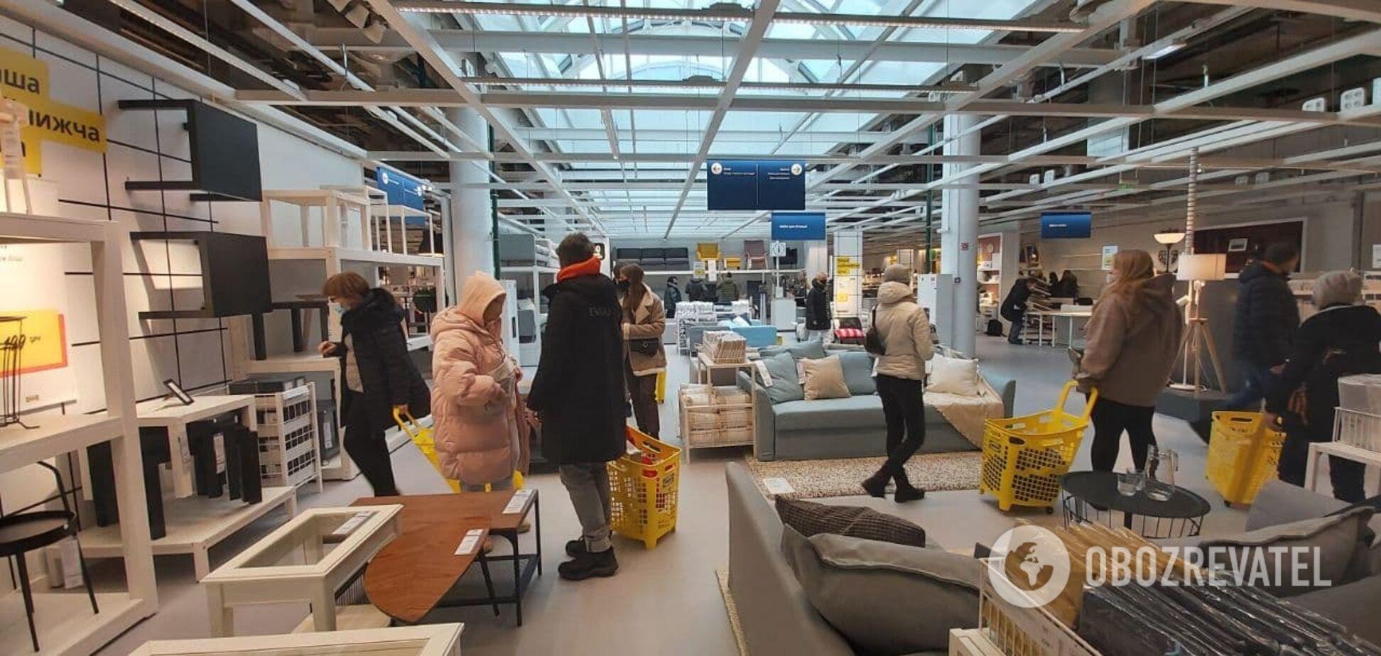 Первый в Украине магазин IKEA открылся в киевском ТРЦ