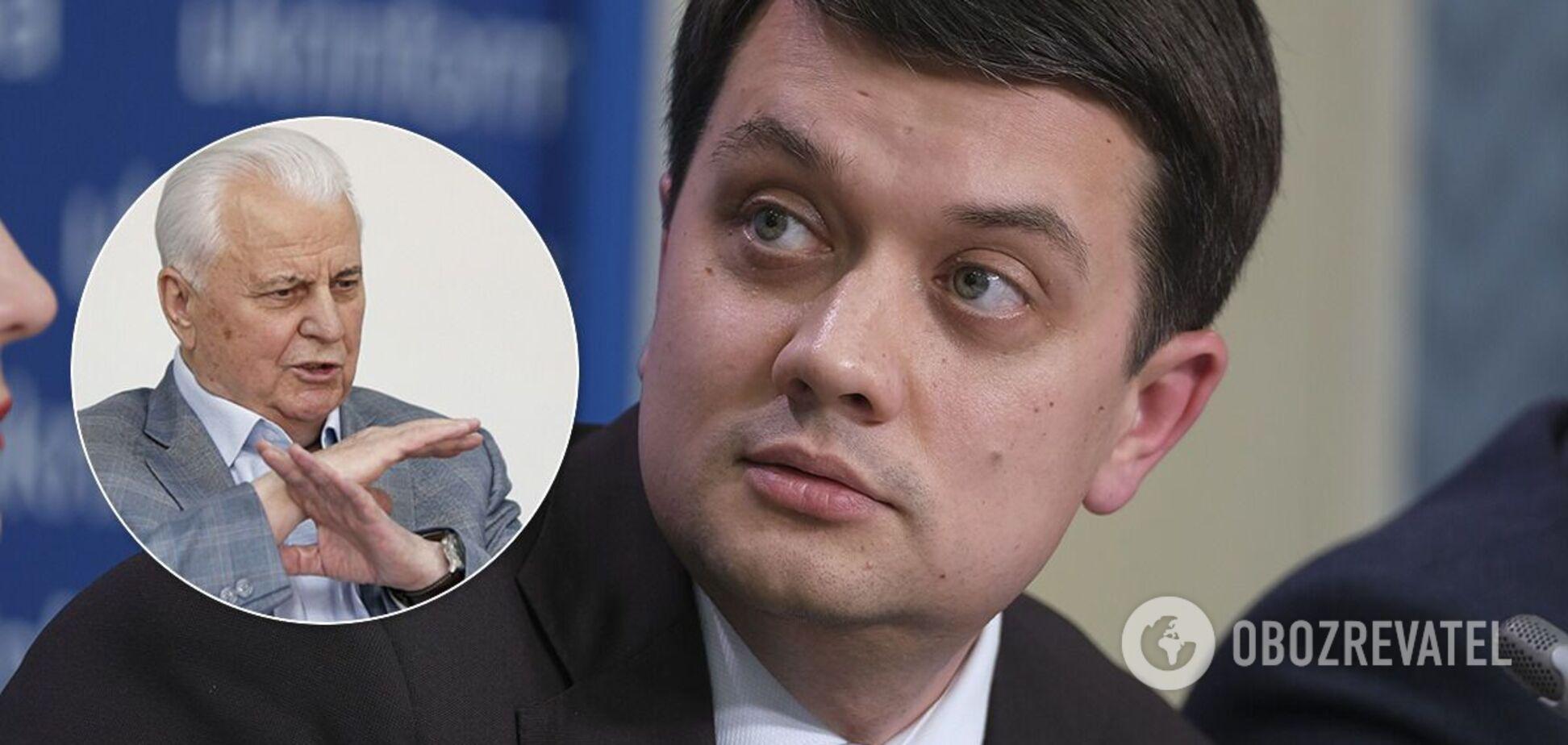 Разумков відповів Кравчуку на референдум щодо Криму й Донбасу