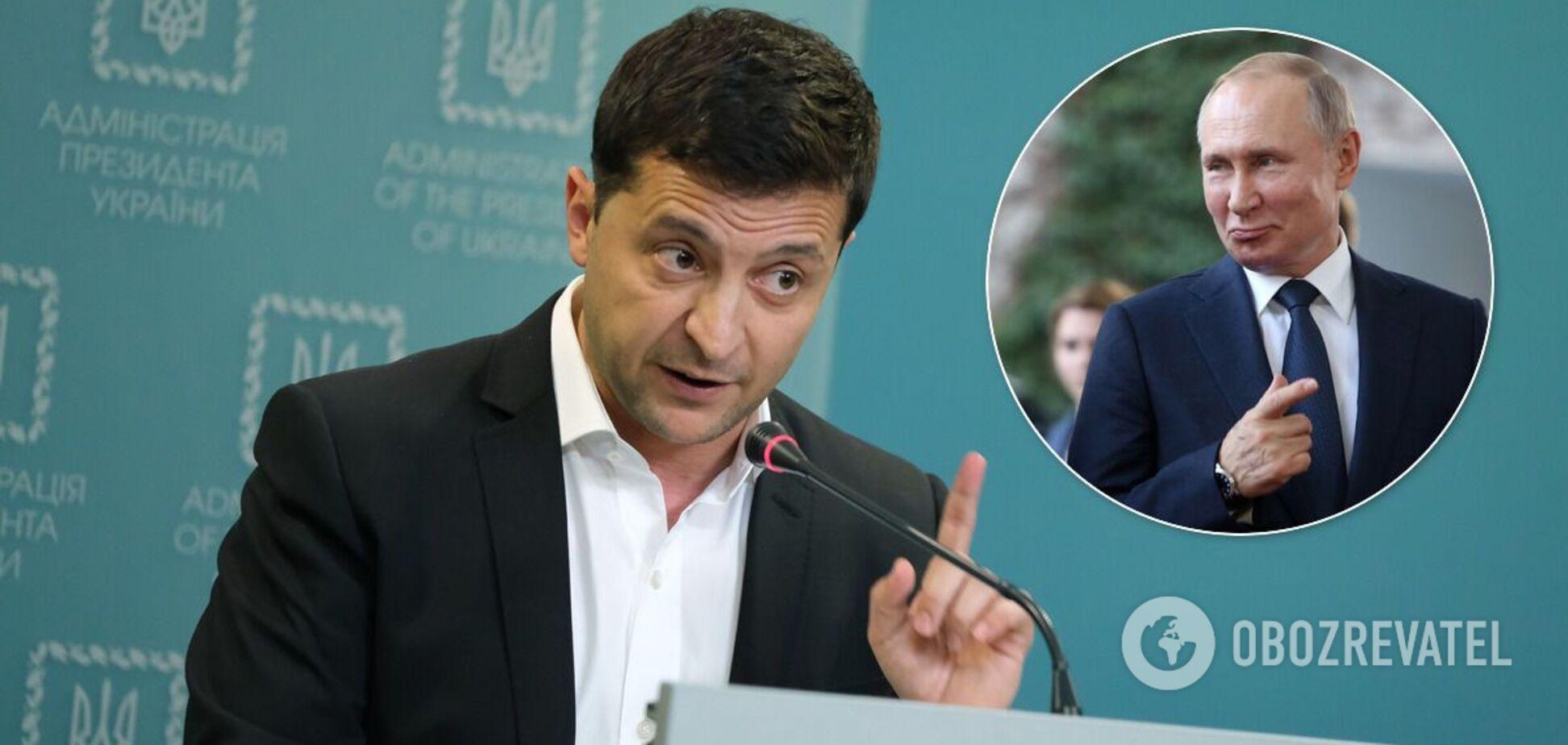 У Зеленського сказали, чому вирішили покликати Путіна на Донбас