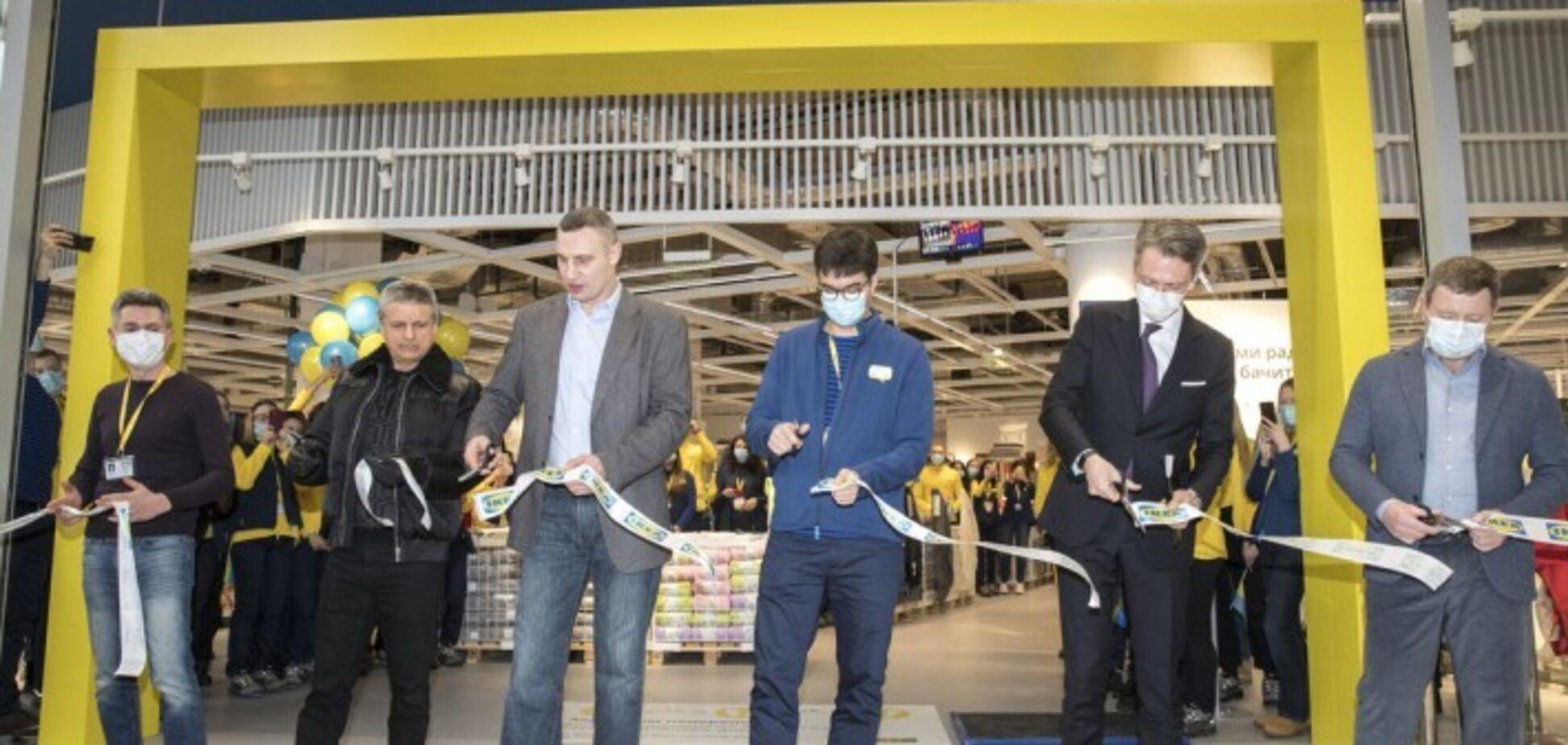 Кличко принял участие в открытии магазина ИКЕА