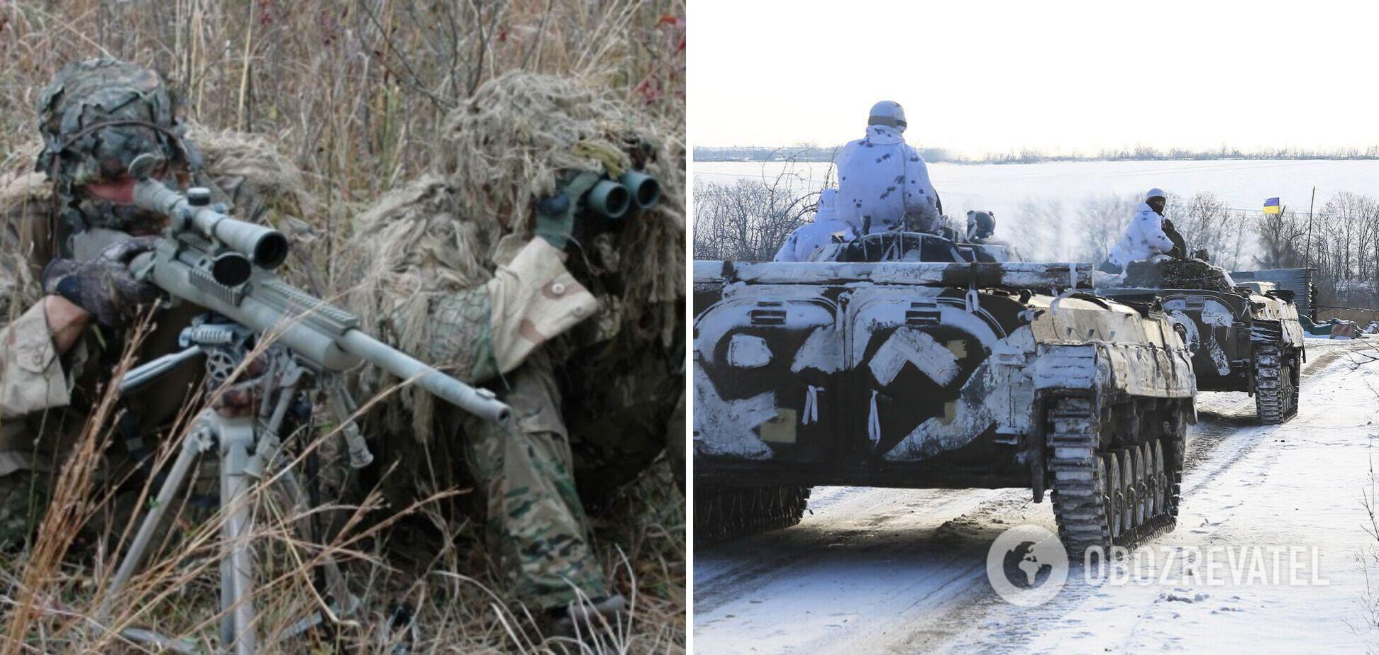 Снайпер вооруженных формирований РФ ранил воина ВСУ на Донбассе