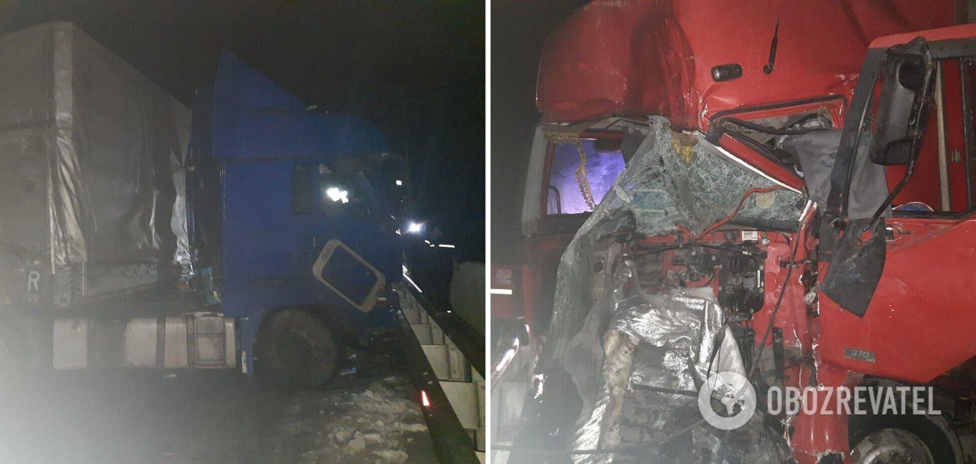 ДТП Полтава: под Кобеляками столкнулись фуры на трассе