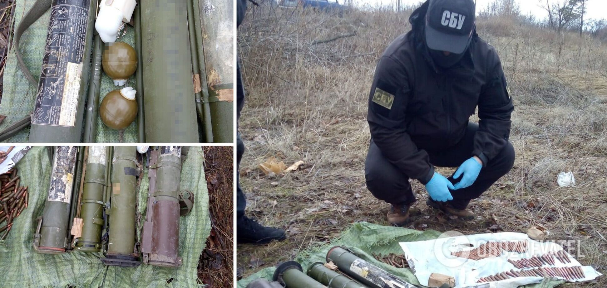 Схрон терористів на Донбасі