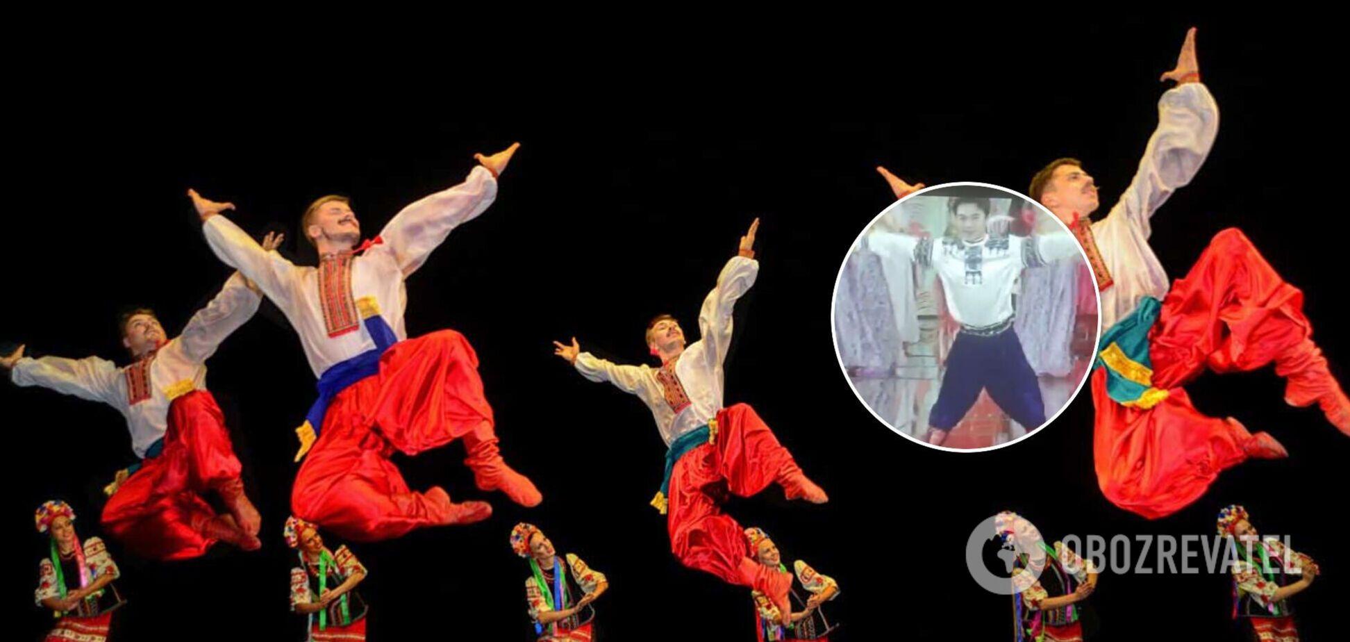 У Китаї український гопак назвали 'російським' і станцювали його на тлі Красної площі. Відео
