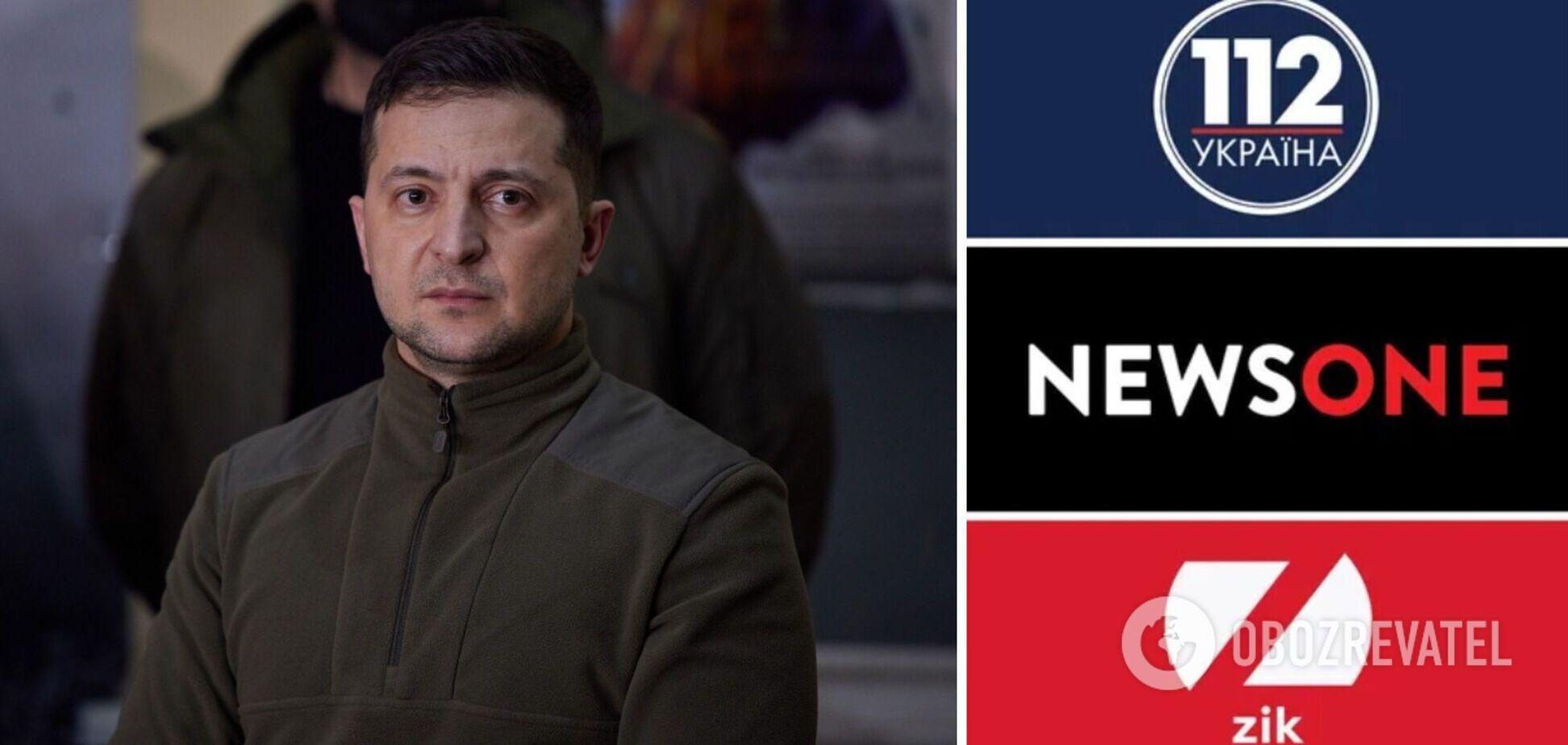 Зеленский – о санкциях против ТВ Медведчука: наши каналы не закрывали, мы закрыли их