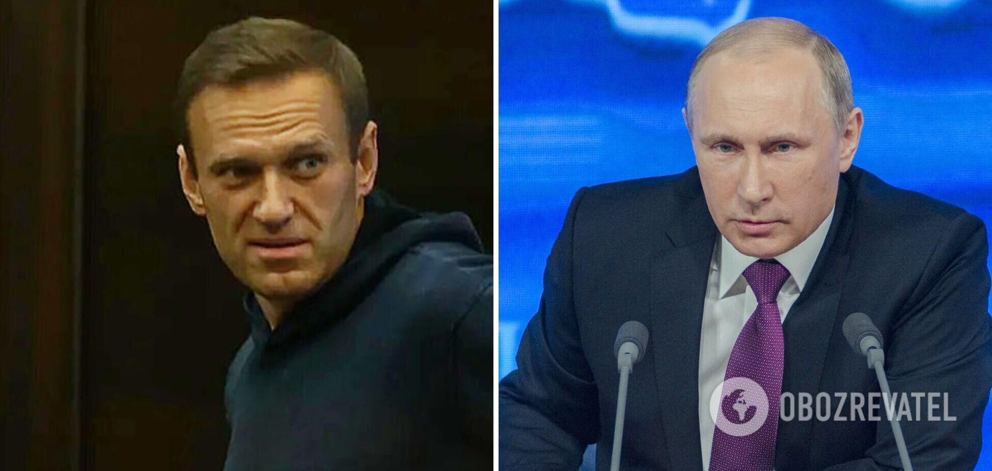 Олексій Навальний і Володимир Путін