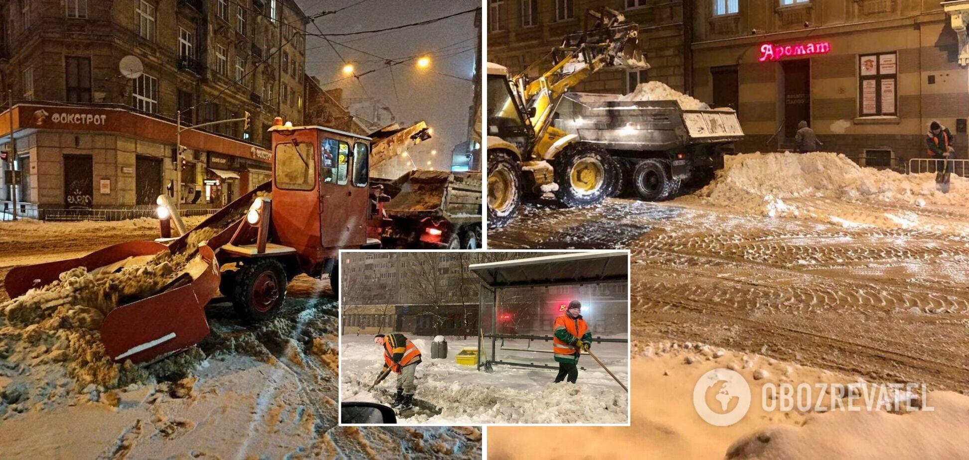 Сніг у Львові