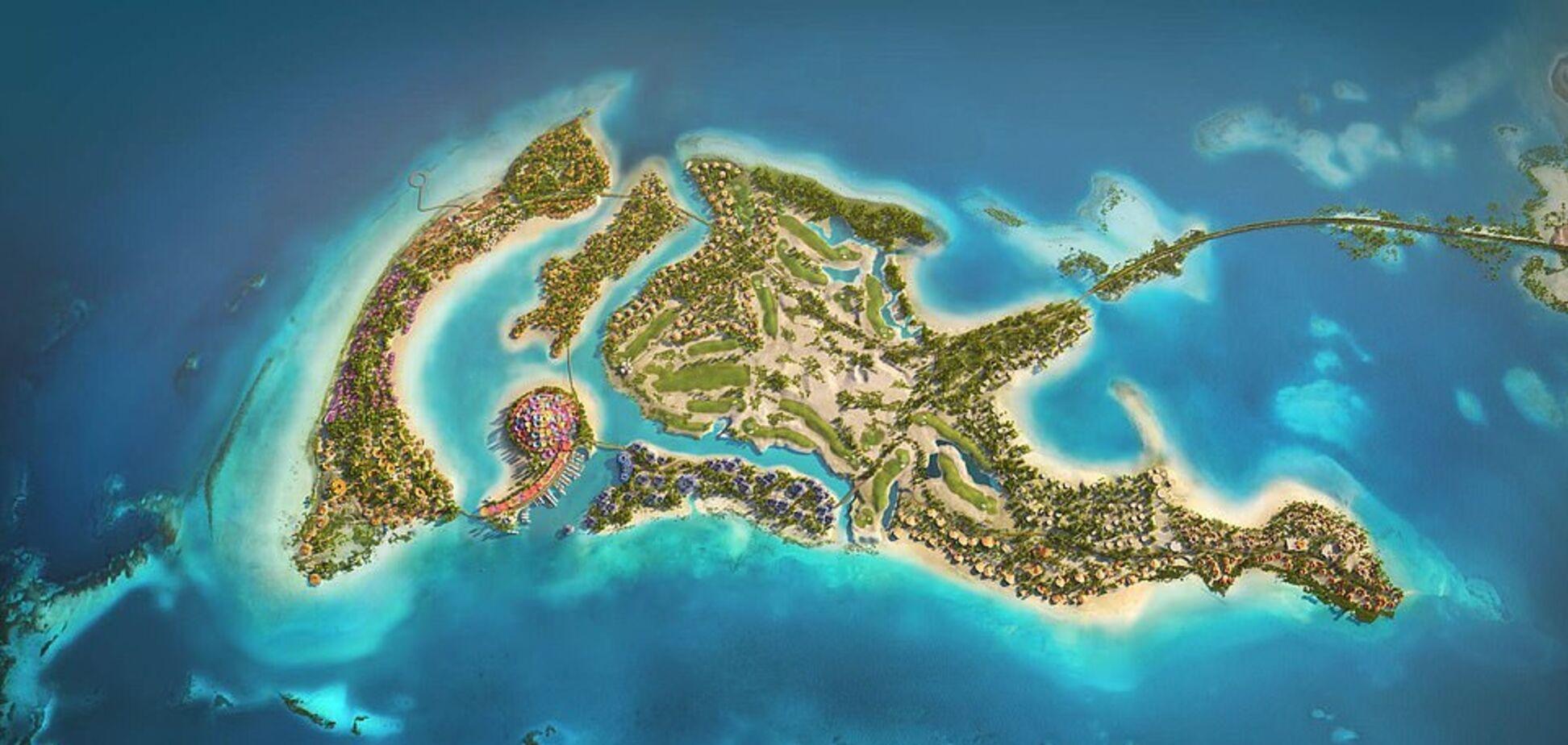 На Червоному морі побудують розкішний курорт у вигляді дельфіна. Фото