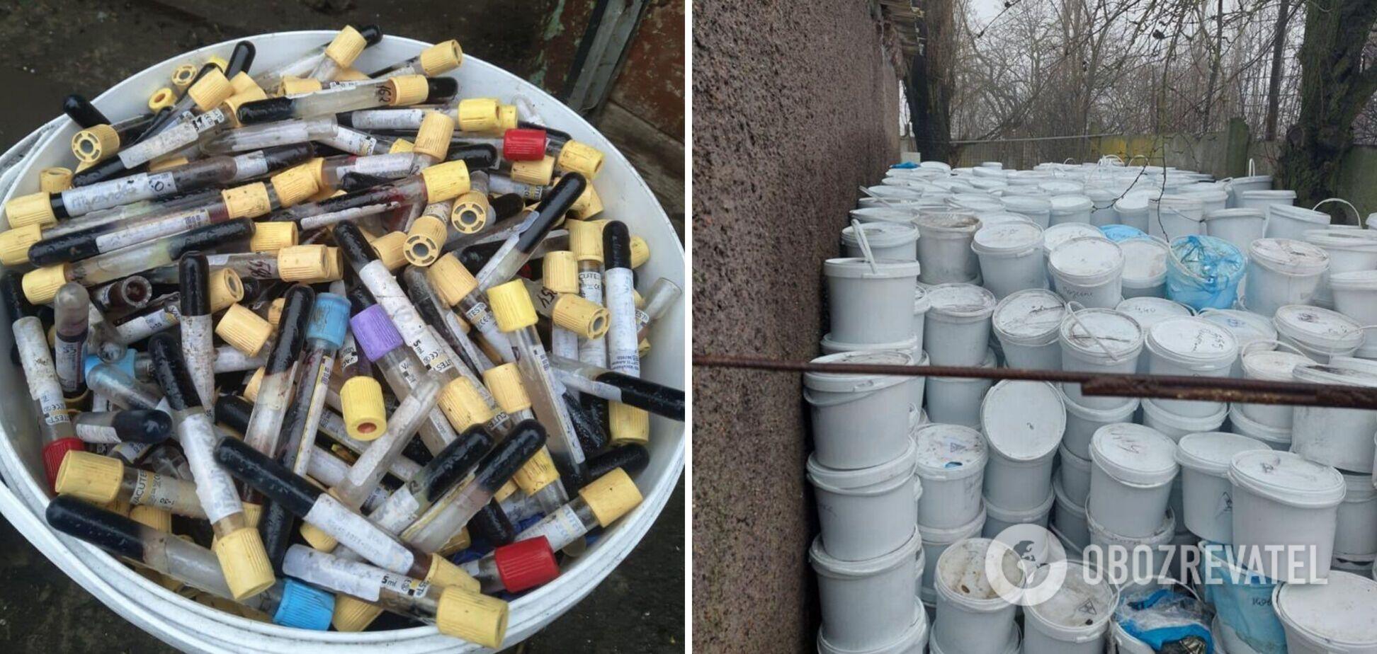 В двух областях Украины нашли свалки опасных медицинских отходов