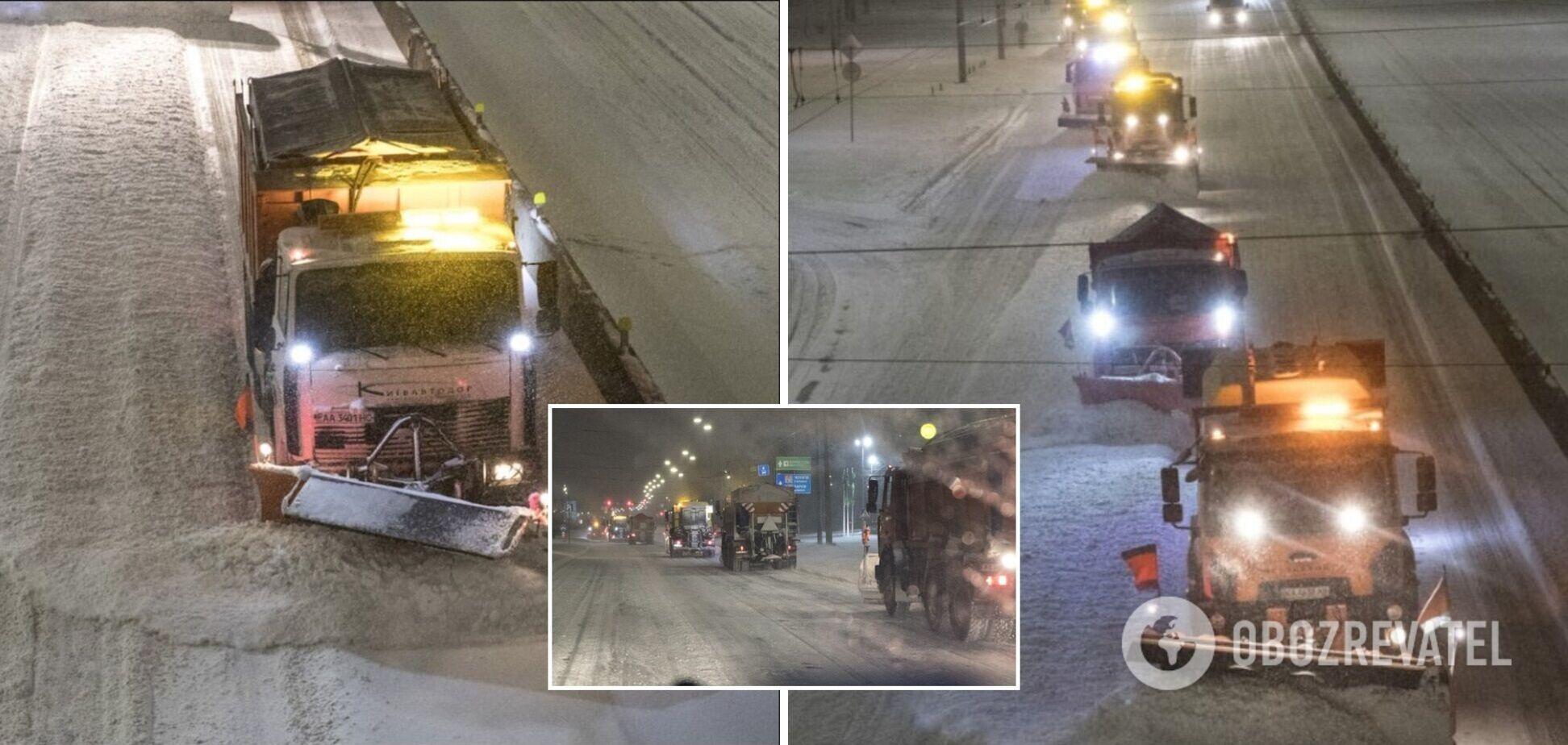 Ночью из столицы вывезли более 1700 тонн снега