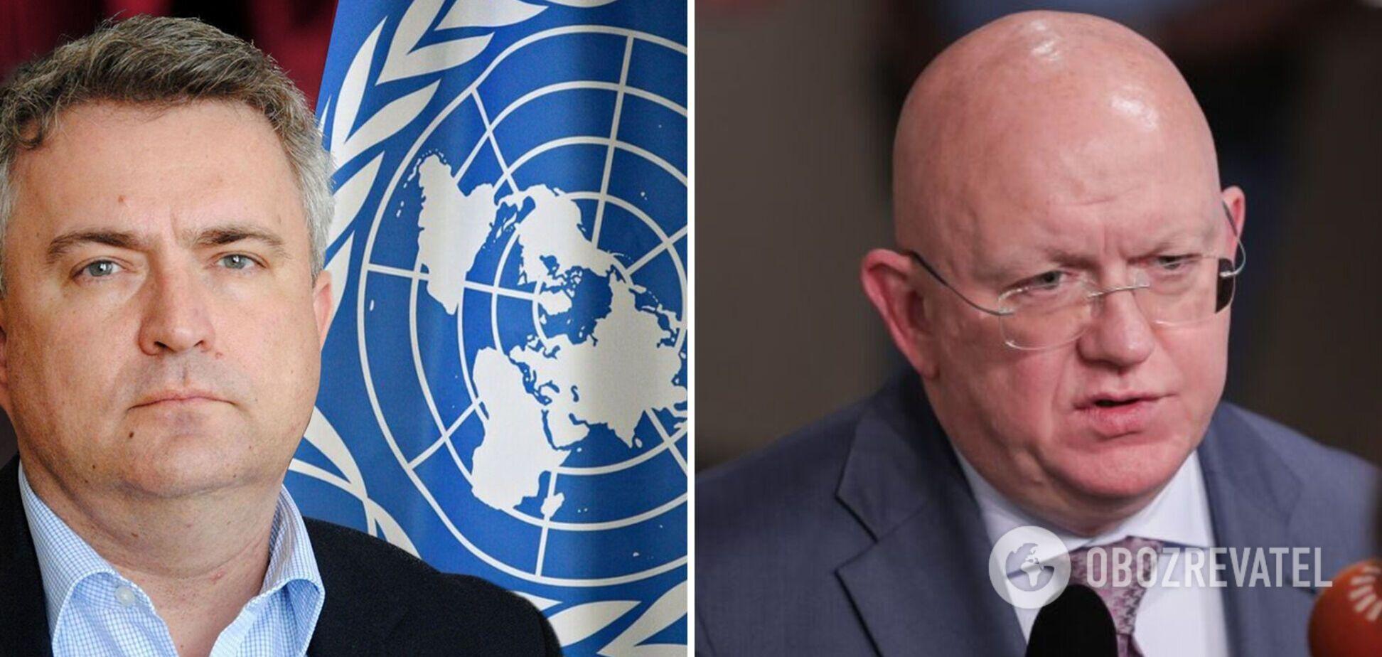 Представники України та РФ в ООН Сергій Кислиця та Василь Небензя