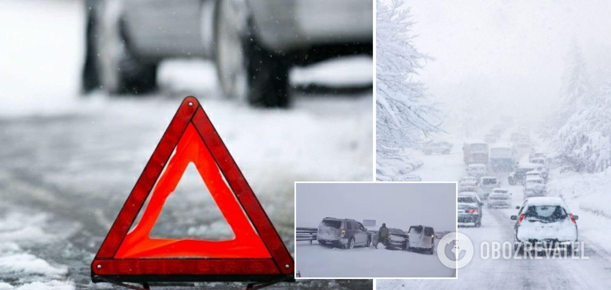 В Крыму 32 авто попали в ДТП из-за непогоды. Видео