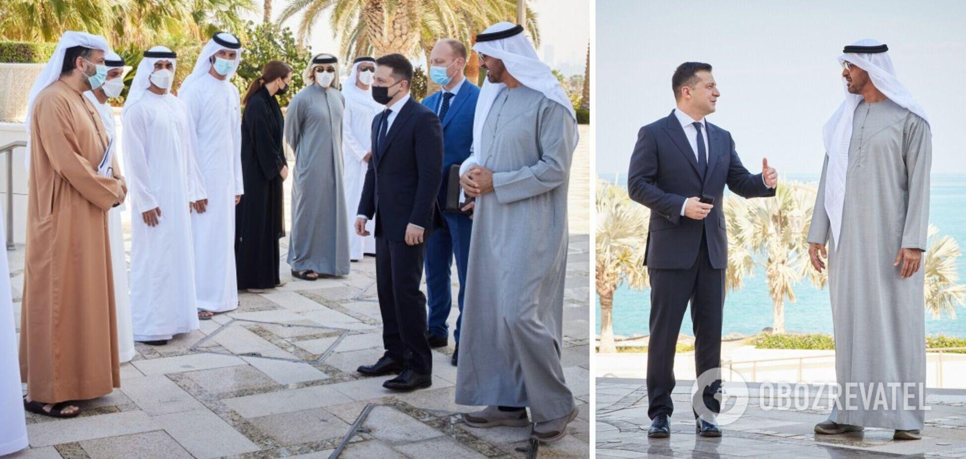 Зеленский провел переговоры в ОАЭ