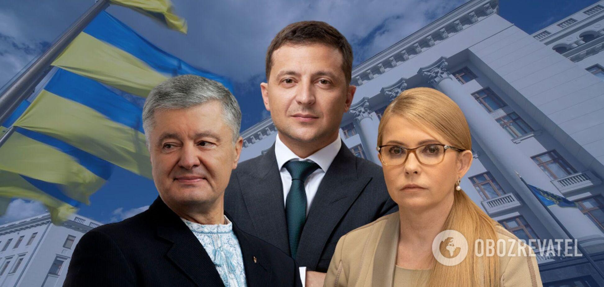 Рейтинги Зеленського, Порошенко і Тимошенко