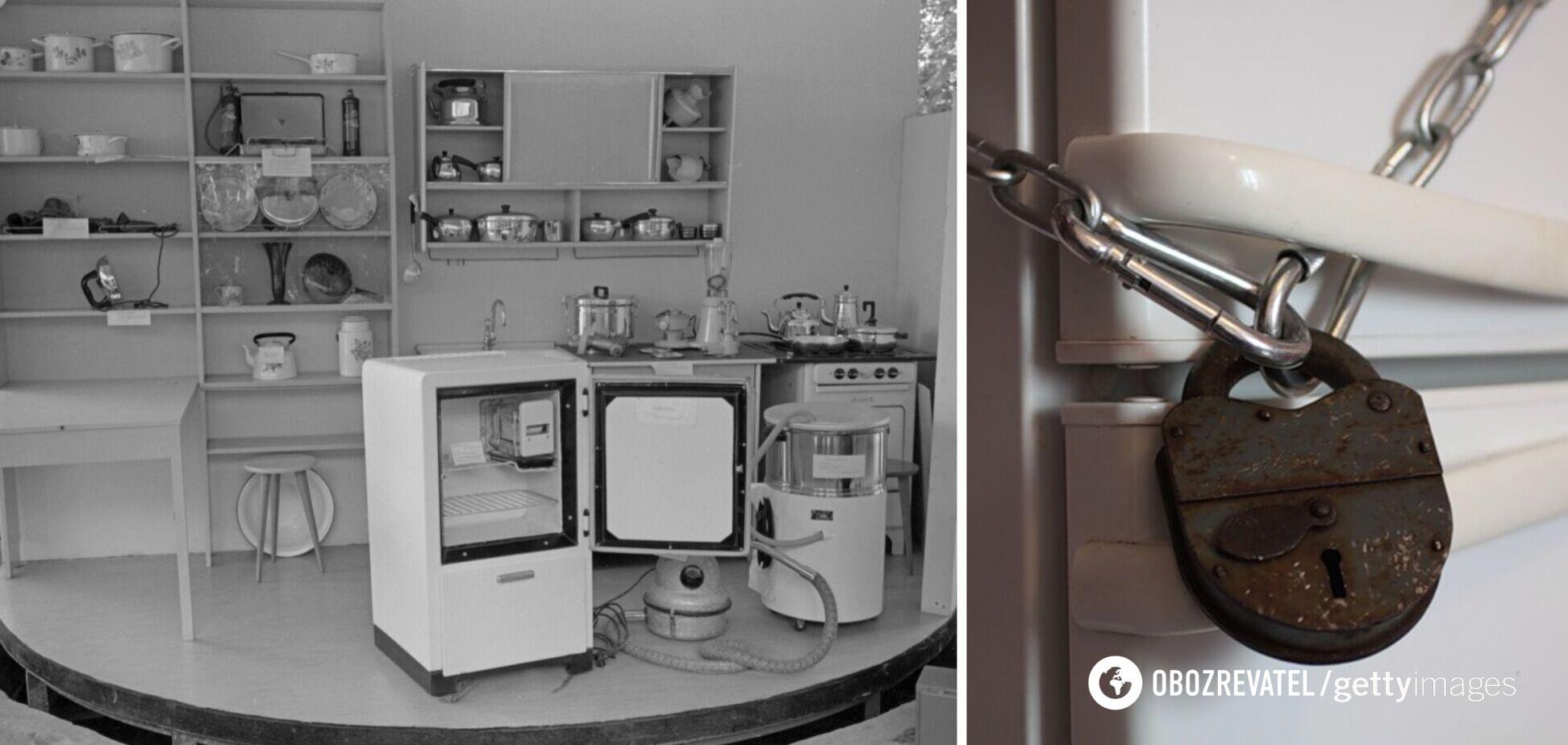 Холодильник СССР с замком