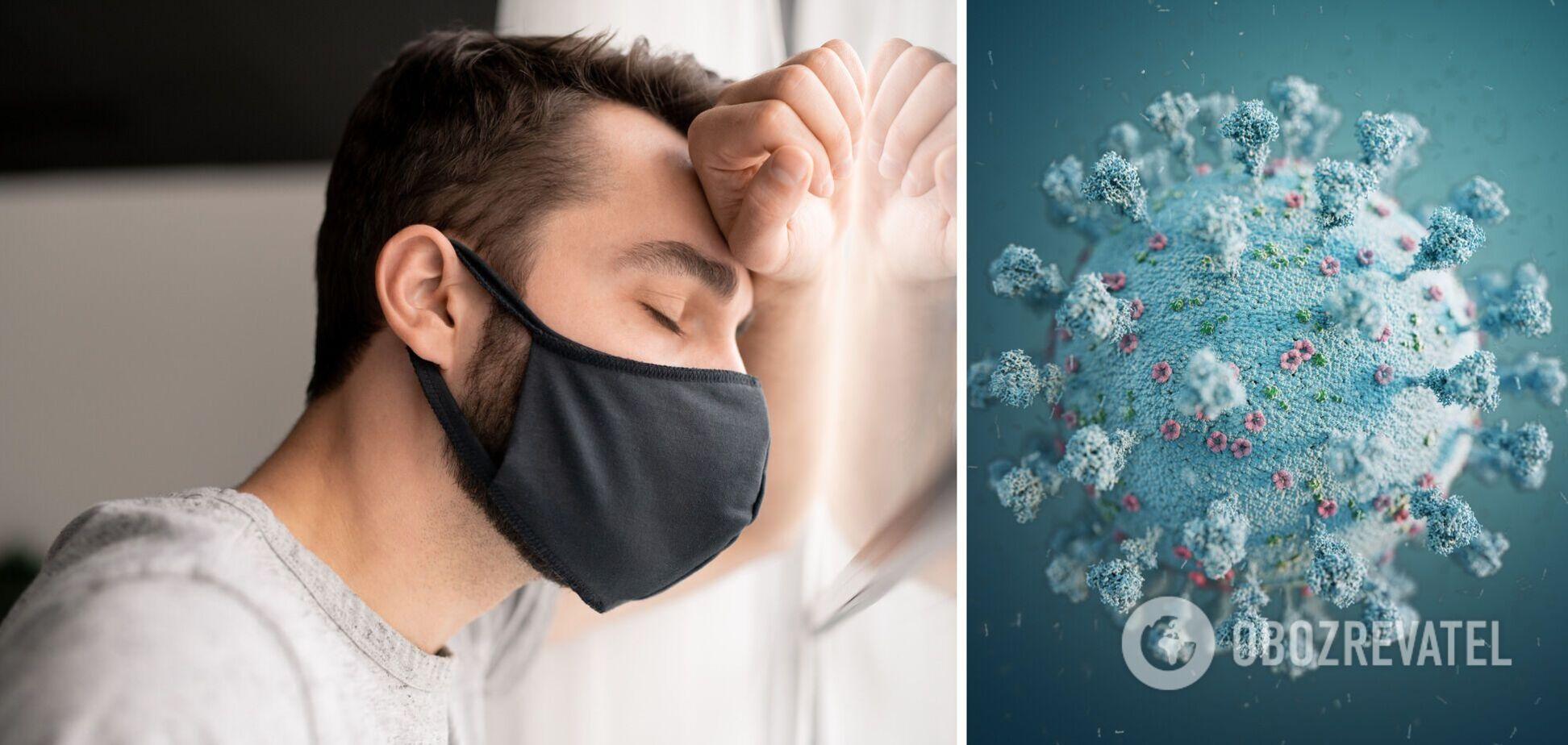 Людина хворіє на коронавірус