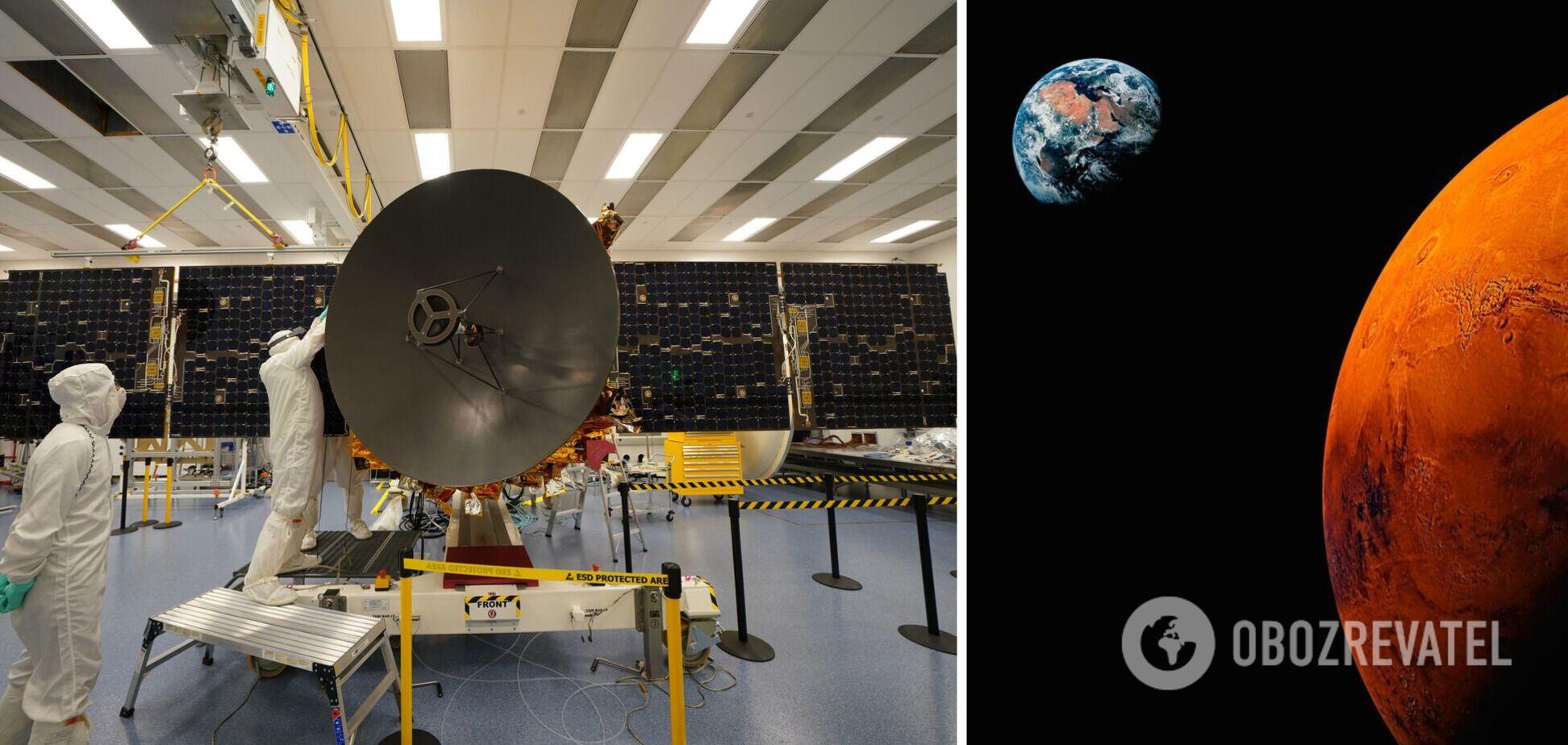 Получено детальное фото Марса с арабской космической станции