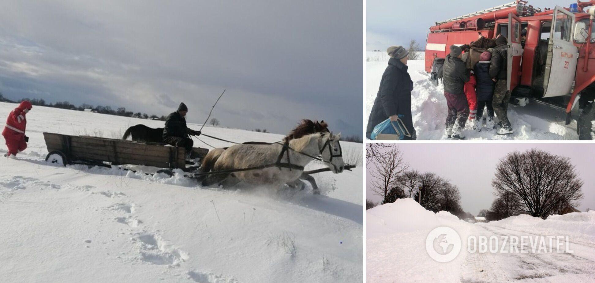 На Житомирщині дівчину везли до лікарні кіньми