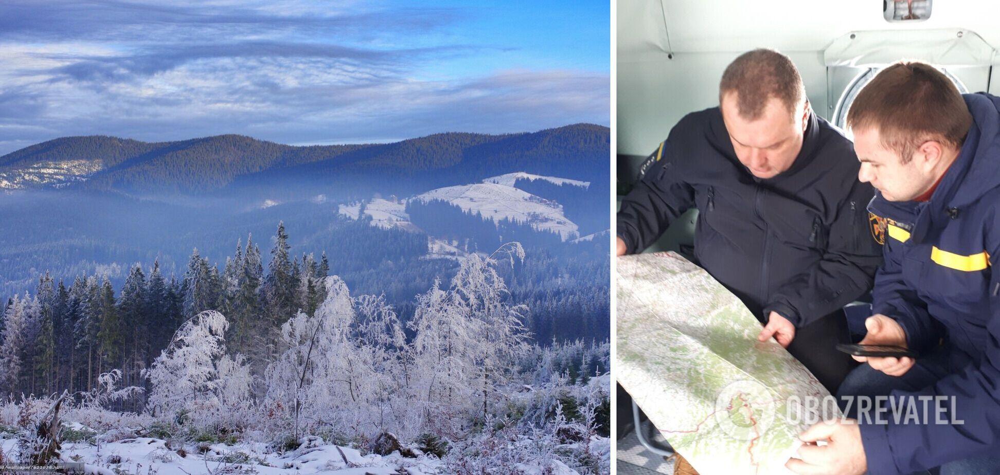 На Закарпатті в горах другий день шукають зниклого туриста. Відео