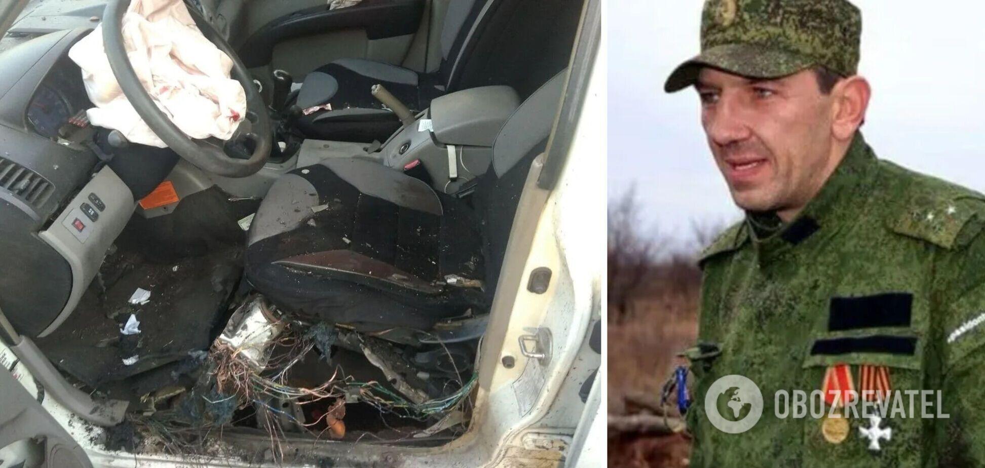 В 'ДНР' подорвали авто одного с главарей: появилось видео с места 'теракта'