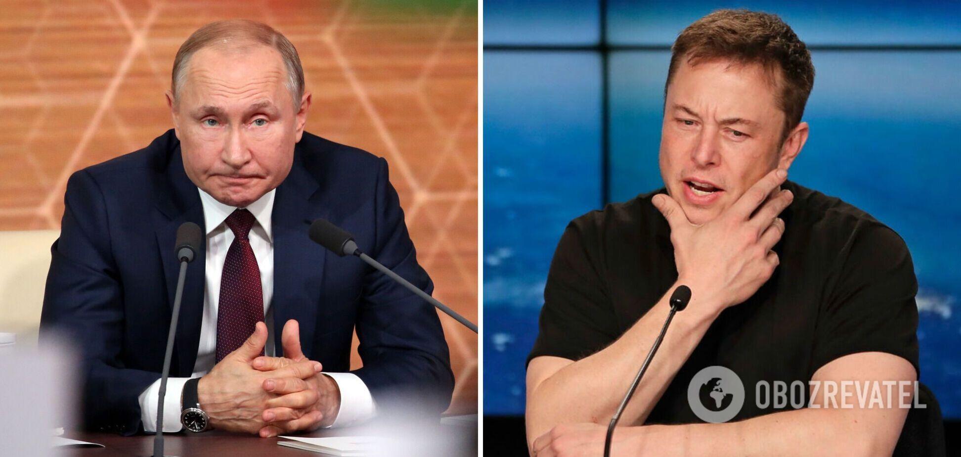 Владимир Путин и Илон Маск