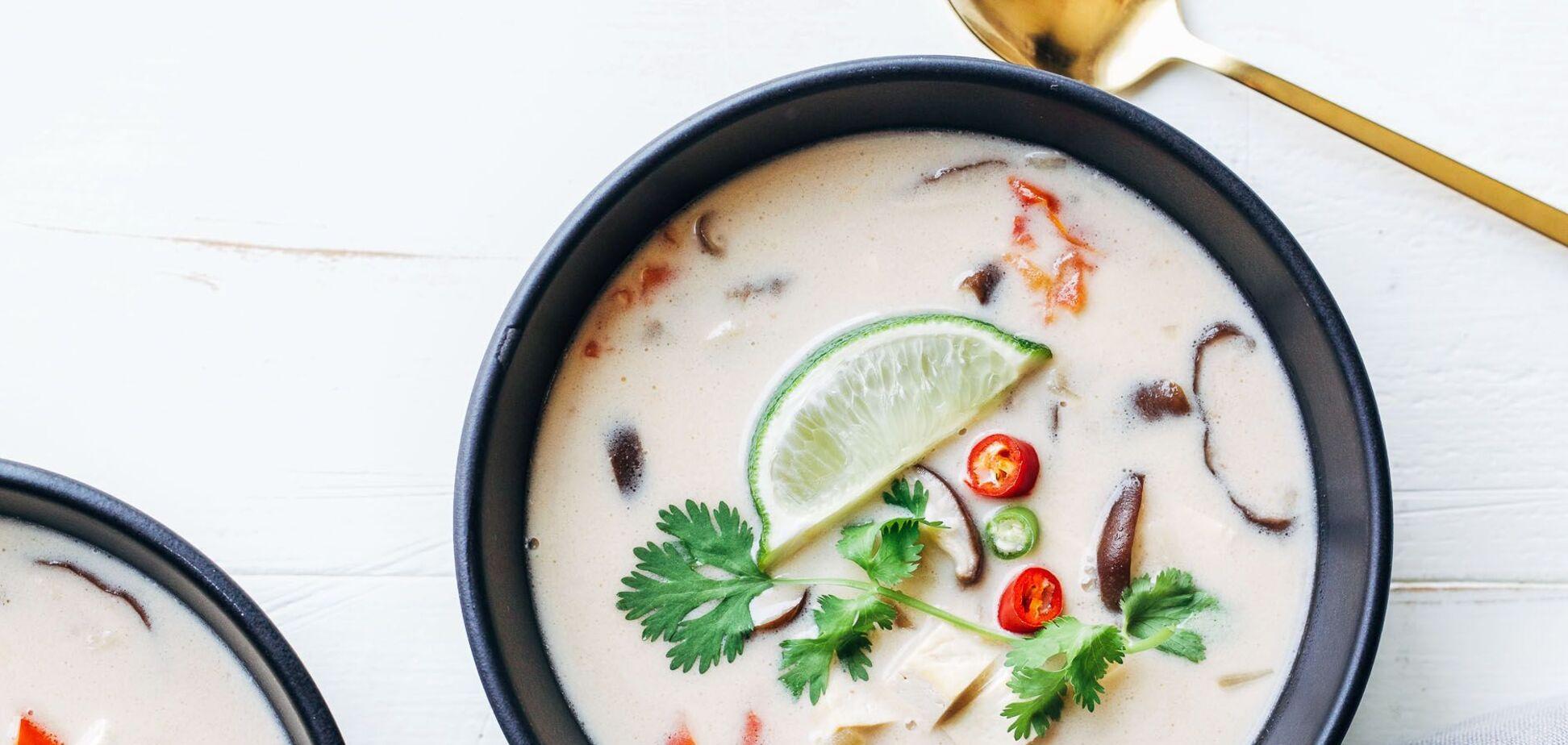 тайский суп на кокосовом молоке