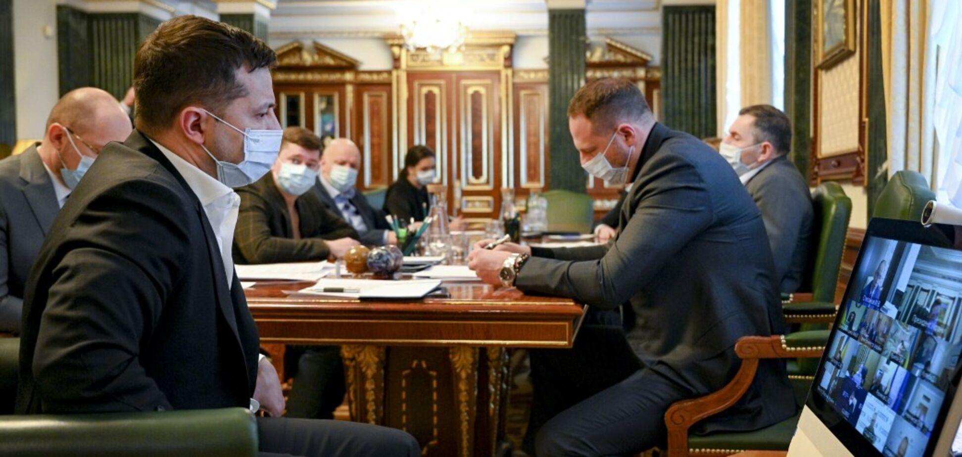 Совещание у президента Украины Зеленского