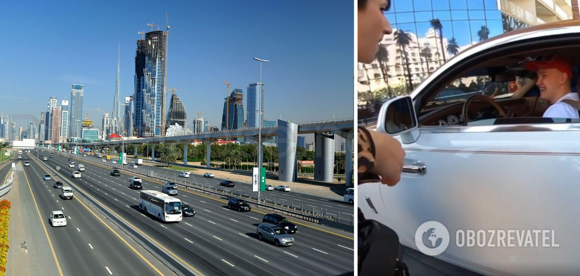 Французька пранкерка натрапила в Дубаї на 22-річного українця за кермом Rolls-Royce. Фото та відео