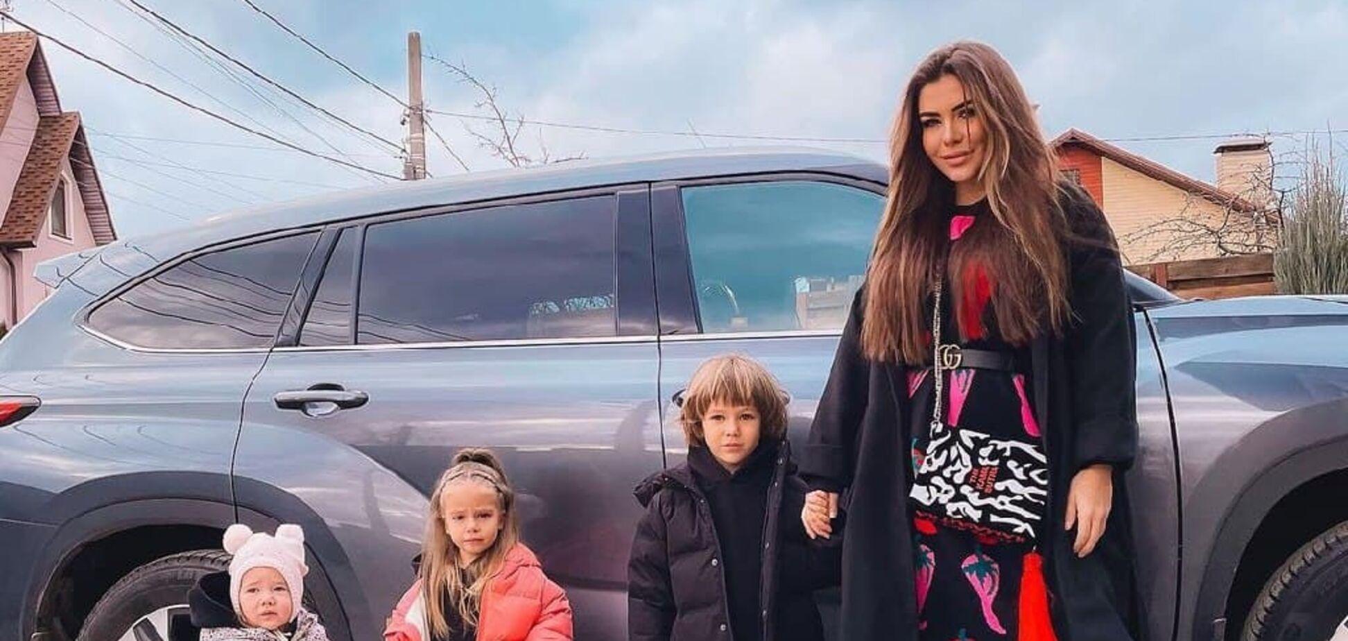 Софія Стужук зі своїми дітьми