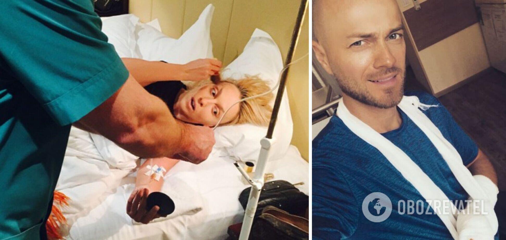 Українські артисти опинилися в лікарні після зйомок