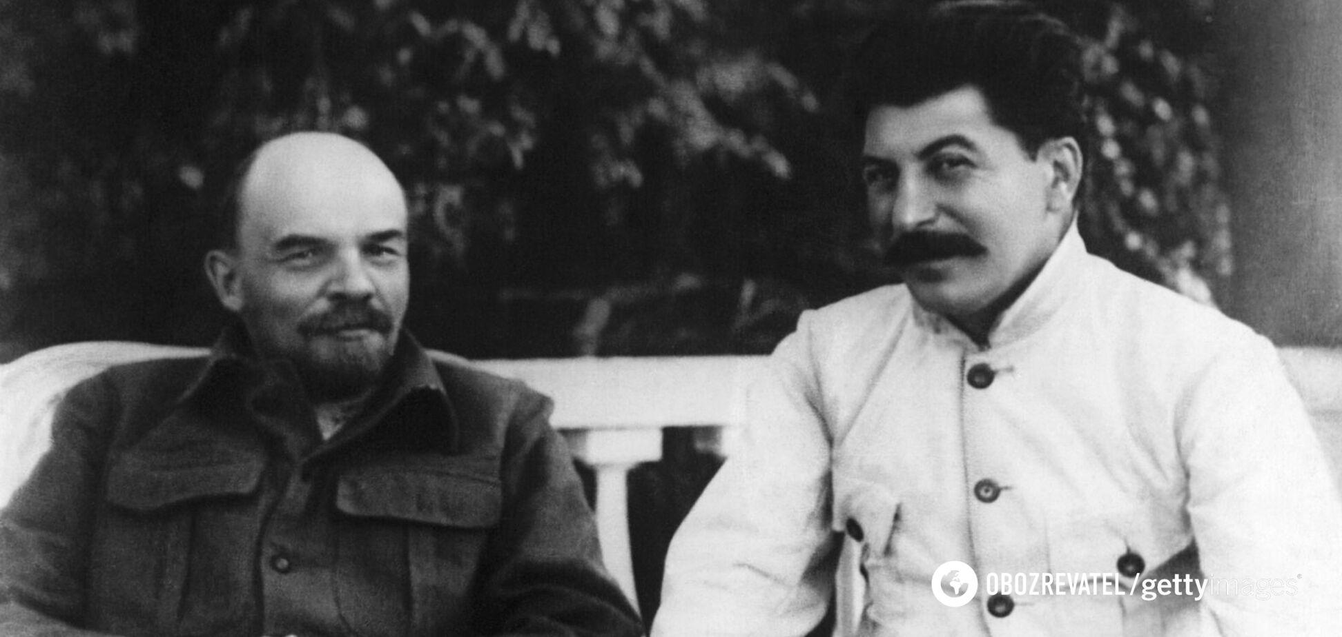 Володимир Ленін і Йосип Сталін