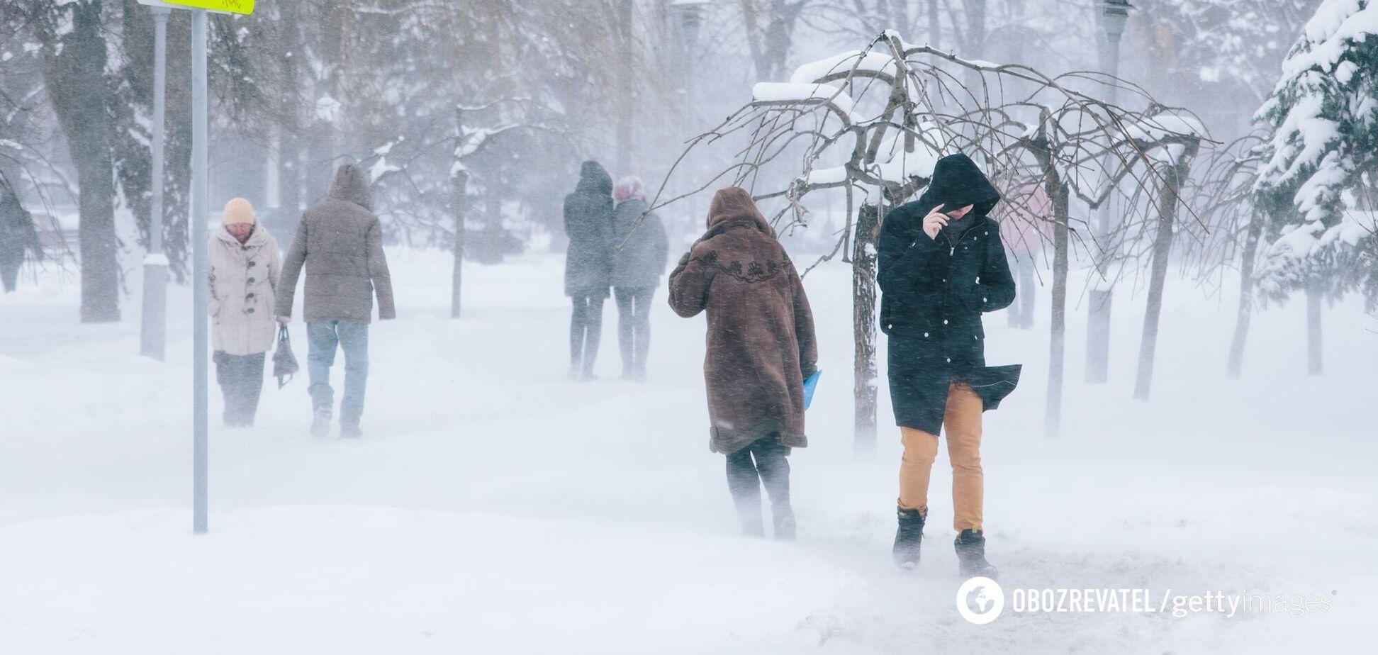 В Украине зафиксировали самые сильные морозы за 30 лет: наглядная карта