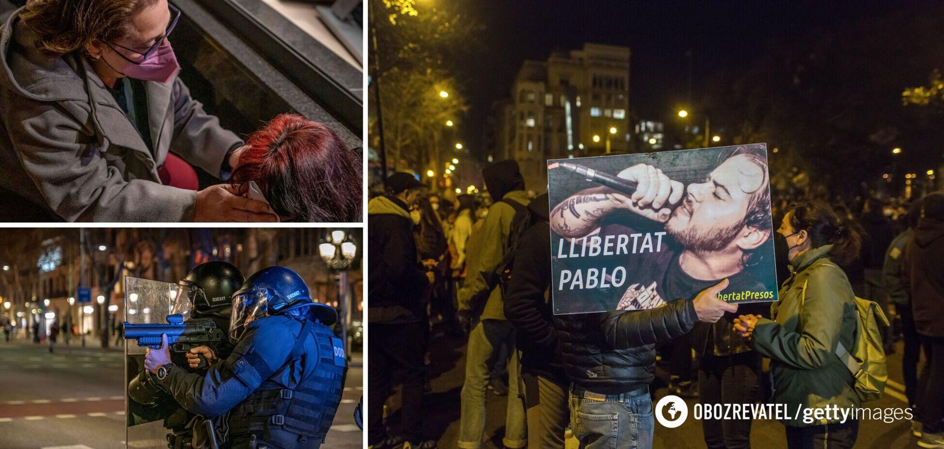 В Іспанії сталися масові погроми і сутички з копами через репера. Фото та відео