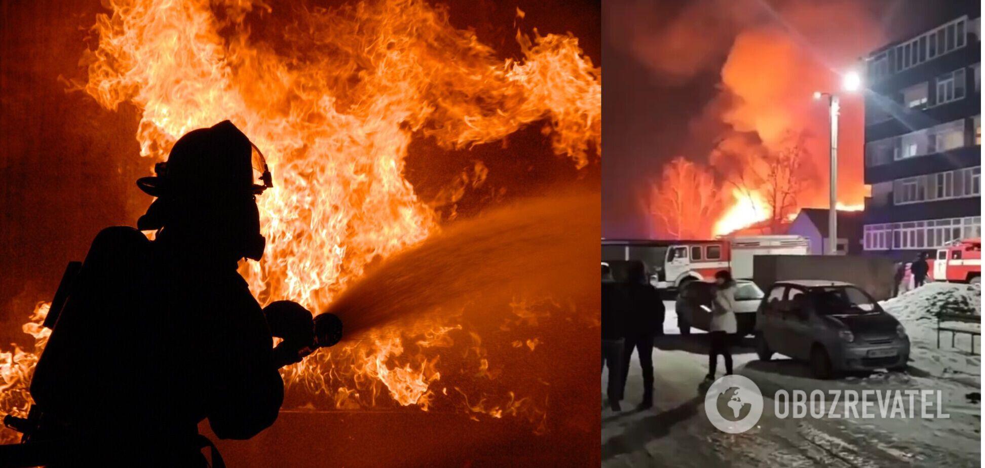Під Харковом спалахнула масштабна пожежа на складах. Відео