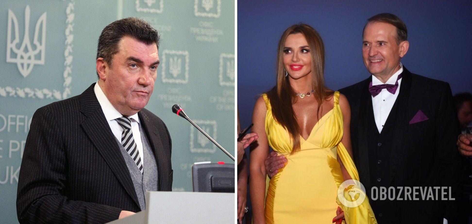 Данилов раскрыл детали введения санкций против Медведчука и Марченко