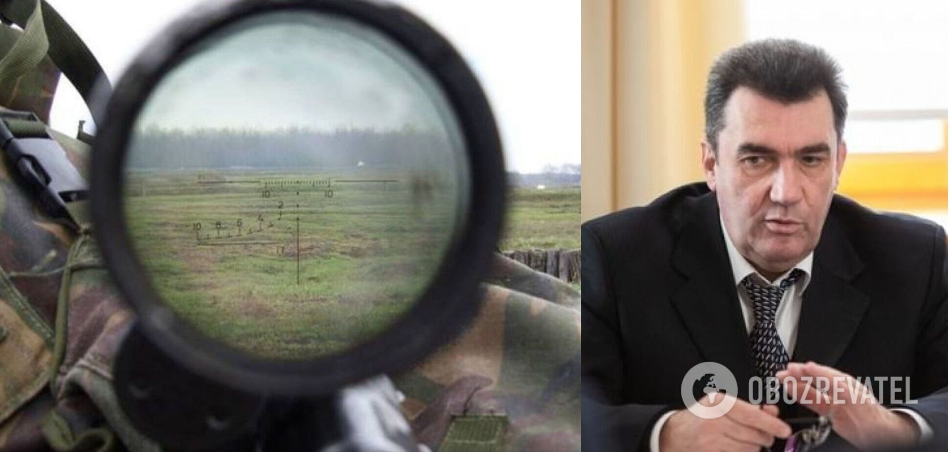 Данилов показал в эфире фото ликвидированного на Донбассе вражеского снайпера: за каждого нашего воина есть ответ