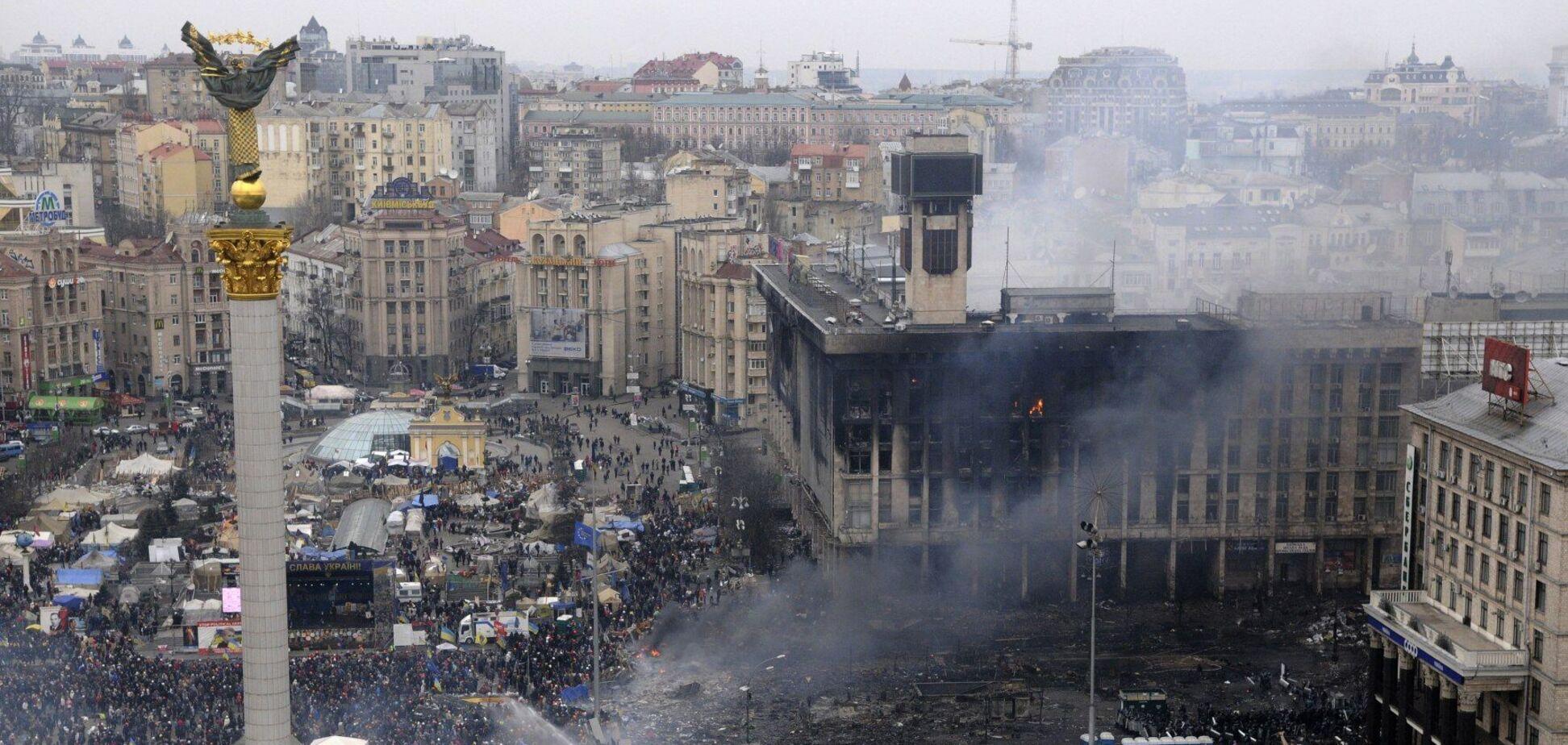 Киев, Майдан Незалежности, утро 19 февраля 2014 года