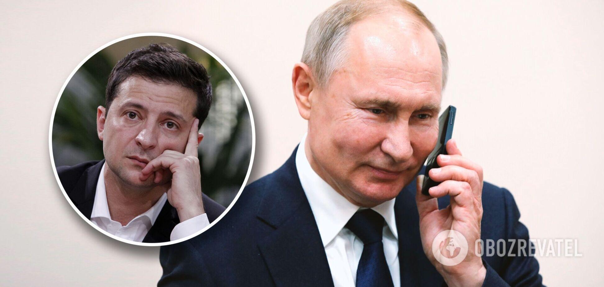 Президенти України та Росії Володимир Зеленський та Володимир Путін